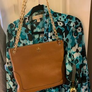 Authentic Tory Burch brown bag with dustbag